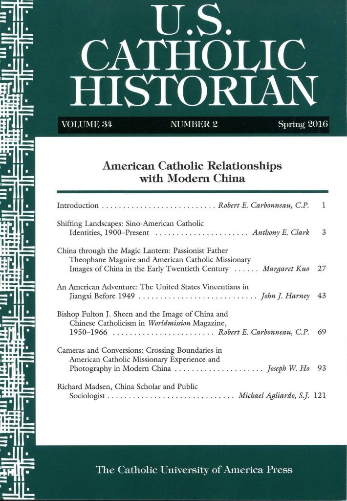 US Catholic Historian Journal Cover